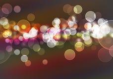 Festive lights at night Stock Photo