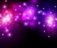 Festive lilac firework background Royalty Free Stock Photos