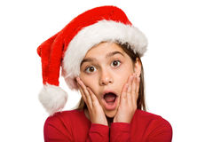 Festive little girl looking surprised Stock Photography