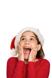 Festive little girl looking surprised Royalty Free Stock Images