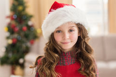 Festive little girl smiling at camera Royalty Free Stock Photography