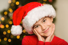 Festive little girl smiling at camera Royalty Free Stock Images