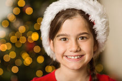 Festive little girl smiling at camera Stock Image