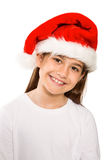Festive little girl smiling at camera Stock Photos