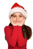 Festive little girl smiling at camera Royalty Free Stock Image