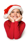 Festive little girl smiling and looking up Royalty Free Stock Image