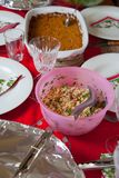 Festive Lunch table Stock Image