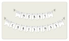 Festive luxury banner Merry Christmas with glamour golden glitter confetti Royalty Free Stock Photos
