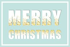 Festive luxury banner Merry Christmas with glamour golden glitter confetti Royalty Free Stock Photo
