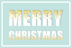 Festive luxury banner Merry Christmas with glamour golden glitter confetti Royalty Free Stock Image