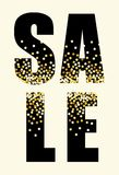 Festive luxury banner SALE with glamour golden glitter confetti. For your decoration Royalty Free Stock Photography
