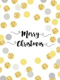 Festive luxury card Merry Christmas with glamour golden glitter confetti Royalty Free Stock Photo