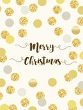 Festive luxury card Merry Christmas with glamour golden glitter confetti Royalty Free Stock Photography