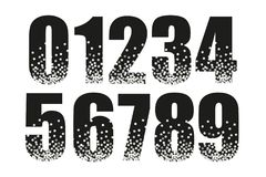 Festive luxury numbers with glamour golden glitter confetti Stock Photos