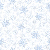 Festive luxury seamless pattern with snowflakes Stock Photo