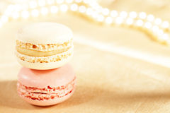 Festive macaroons, colorful Royalty Free Stock Photography