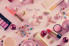 Festive make up stock photo