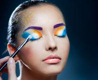 Festive makeup Stock Images