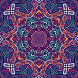 Festive mandala background. Abstract geometric mosaic vintage ethnic seamless pattern ornamental Royalty Free Stock Images