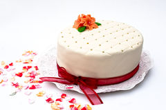 Festive marzipan cake Royalty Free Stock Images