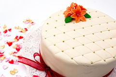Festive marzipan cake Royalty Free Stock Photography