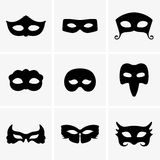 Festive masks. Available in high-resolution and several sizes to fit the needs of your project Stock Images