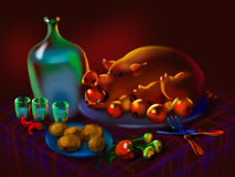 Festive feast Stock Photography