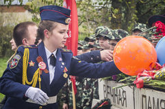 A festive meeting and a concert on 9 may 2017 in the Kaluga region of Russia. Every year Russia celebrates the victory day of the Soviet army in the great Stock Photos