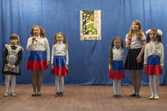 A festive meeting and a concert on 9 may 2017 in the Kaluga region of Russia. Every year Russia celebrates the victory day of the Soviet army in the great Stock Images