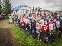The festive meeting of may 9, 2017, in the Kaluga region of Russia. Stock Images