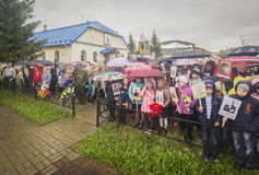 The festive meeting of may 9, 2017, in the Kaluga region of Russia. Royalty Free Stock Images
