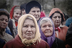The festive meeting of may 9, 2017, in the Kaluga region of Russia. Stock Photo