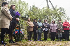 The festive meeting of may 9, 2017, in the Kaluga region of Russia. Royalty Free Stock Photography