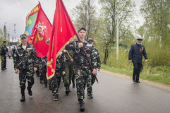 The festive meeting of may 9, 2017, in the Kaluga region of Russia. Stock Photography
