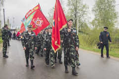 The festive meeting of may 9, 2017, in the Kaluga region of Russia. Royalty Free Stock Photo