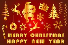 Festive merry christmas with decorated item. And text for merry christmas with celebration countdown to new year festival holiday in december every yea Royalty Free Stock Images