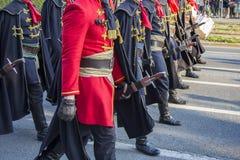 Festive Military parade Royalty Free Stock Image