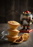 Festive Mince Pies Stock Images