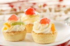 Festive mini tarts Stock Photography