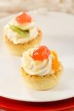 Festive mini tarts Royalty Free Stock Photo