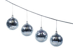 Festive mirror ball. And chain Royalty Free Stock Photography
