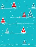 Festive mood - seamless pattern. Seamless pattern with styled christmas trees Stock Photos