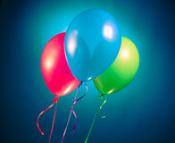 Festive multicolor rgb balloons Stock Photo