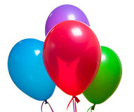 Festive multicolor rgb balloons Stock Images