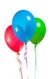Festive multicolor rgb balloons Stock Photos