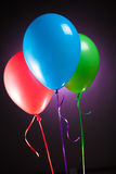 Festive multicolor rgb balloons Stock Image