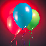 Festive multicolor rgb balloons Royalty Free Stock Image