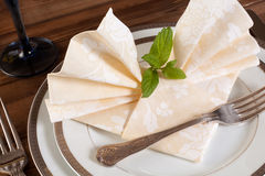 Festive napkins Royalty Free Stock Photography