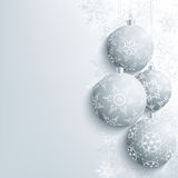 Festive New Year And Christmas Card With Christmas Ball Royalty Free Stock Photo