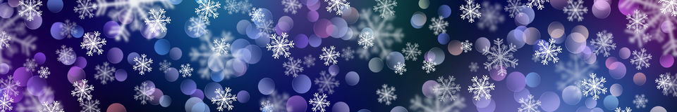 Festive New Year background. Beautiful bokeh. Banner Stock Image